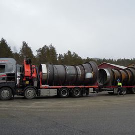Transport av rør for Andritz Hydro